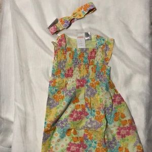 Gymboree spring dress with head band